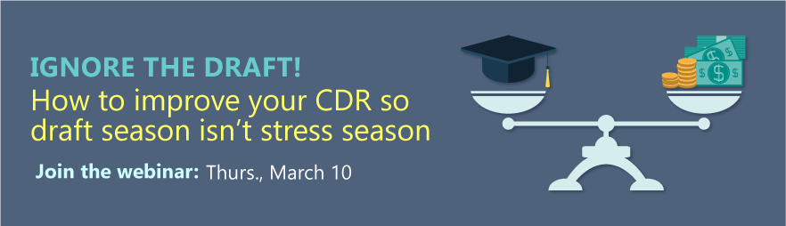 Webinar – Ignore the draft! How to improve your CDR so draft season isn't stress season
