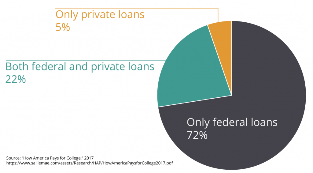 Only 5% of borrowers rely entirely on private student loans