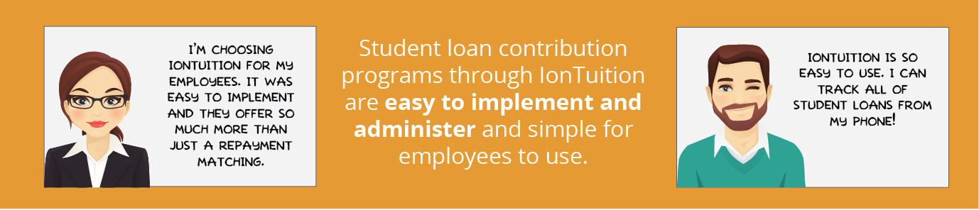 student loan contribution programs through iontuition are easy to implement and administer